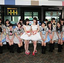 AKB48 選抜総選挙会場行き臨時バス 行先案内LED「AKB48 総選挙ver」お披露目より (C)AKS