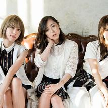 Chelsy。左からSHIZUKA (Ba/Cho)、MIO (Vo/Gt)、AMI (Dr/Cho)