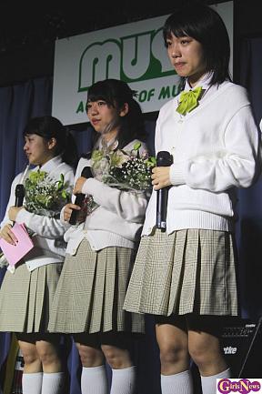 (左から)清水花梨、小川杏奈、野見山杏里