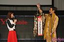 桐谷美玲(左) ピコ太郎(右)