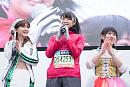 左から  森咲樹(アップアップガールズ(仮)) 、 吉川茉優(アップアップガールズ(2)) 、 中沖凜(アップアップガールズ(2))