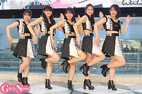 こぶしファクトリー (左から)広瀬彩海、浜浦彩乃、野村みな美、井上玲音、和田桜子