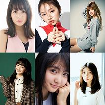 (写真上左から)久間田琳加 青島妃菜 アンジェリカ  (下左から)白井杏奈 加藤咲希 宮本和奏