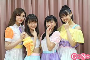 アップアップガールズ(2)(左から)森永新菜、新倉愛海、佐々木ほのか、吉川茉優