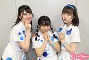 (左から)森永新菜(18歳/東京都出身)、 島崎友莉亜(17歳/神奈川県出身)、 新倉愛海 (16歳/神奈川県出身)