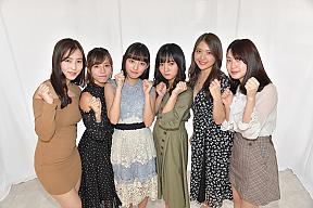 (左から)薄井しお里、河路由希子、高崎かなみ、西永彩奈、水咲優美、竹川由華