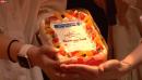 15周年を祝うケーキ
