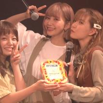 9nine。(左から)村田寛奈、西脇彩華、佐武宇綺