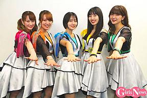 アップアップガールズ(仮)(左から)古川小夏、関根梓、新井愛瞳、佐保明梨、森咲樹