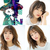 櫻井紗季(右上)、高嶋菜七(左下)、橘二葉(右下)